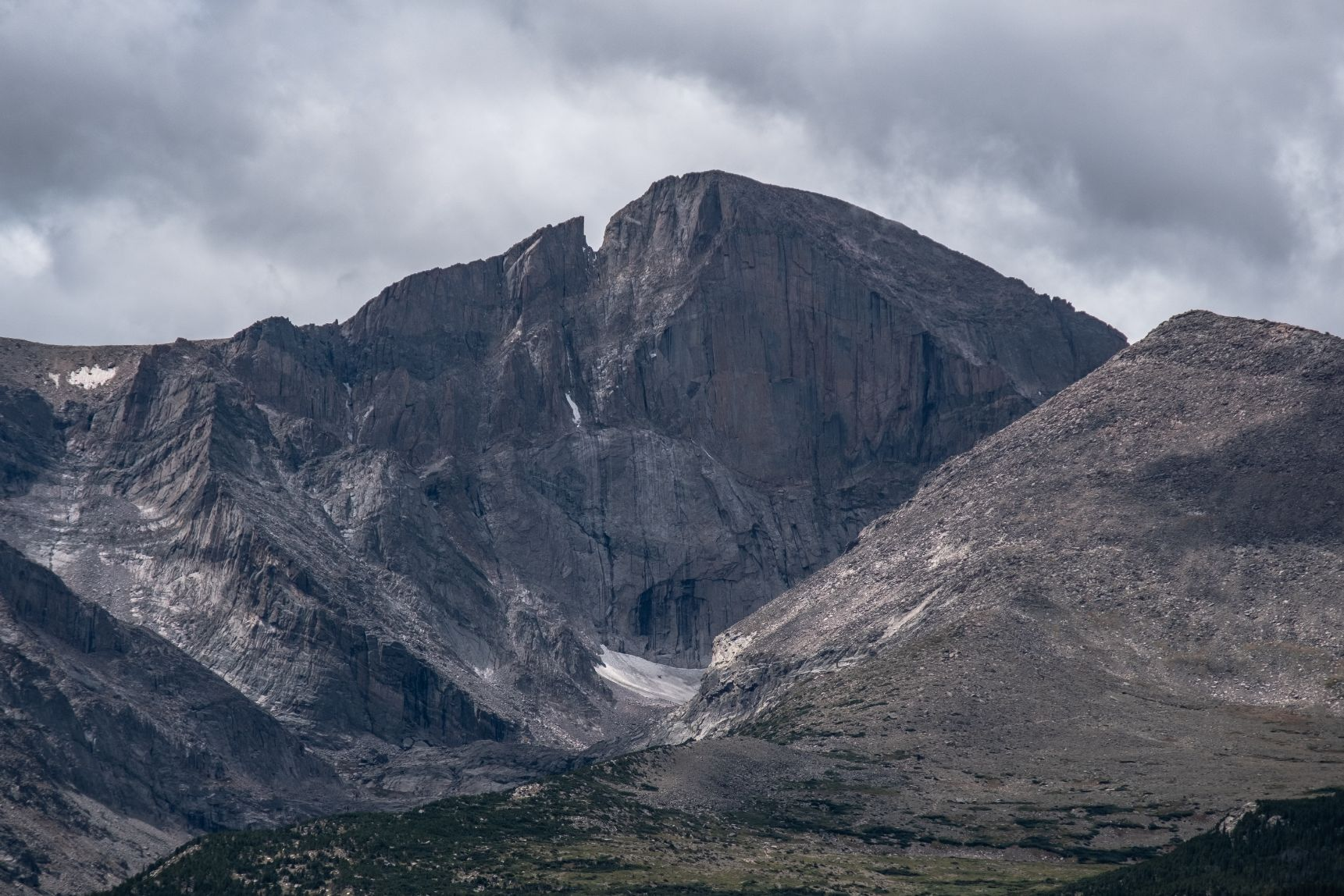 Long's Peak Mountain in the Rocky Mountains of Colorado