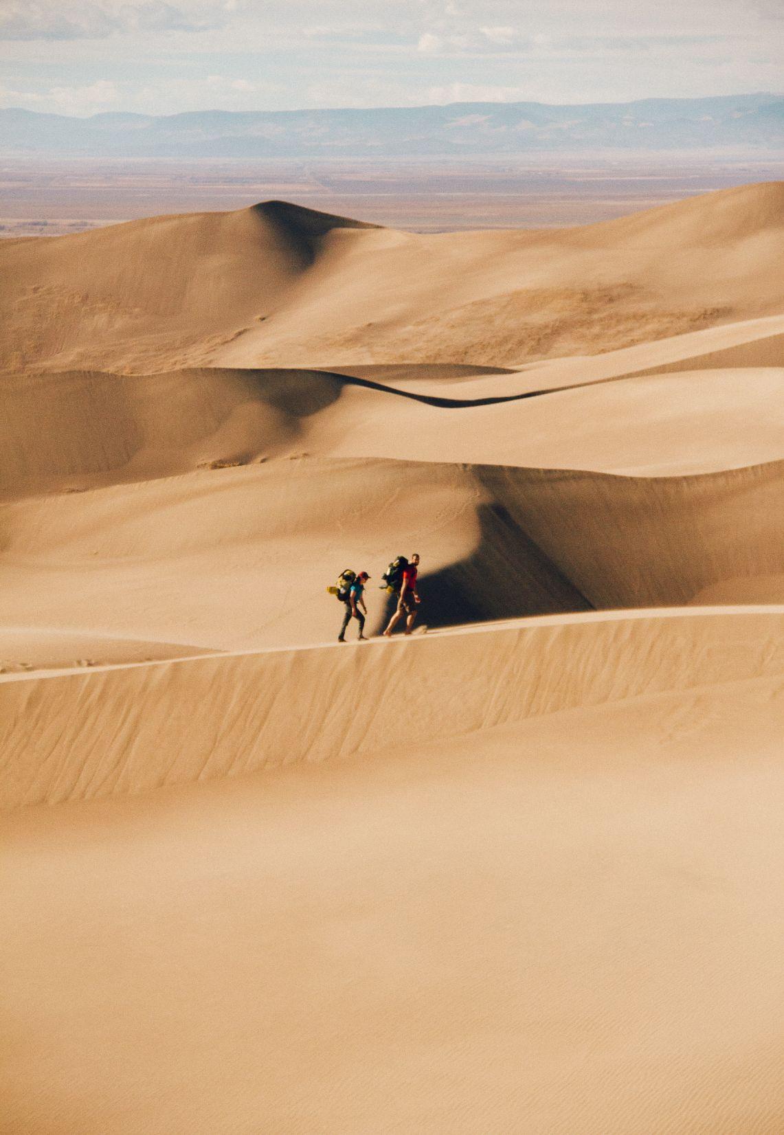 sand dunes and desert in Colorado