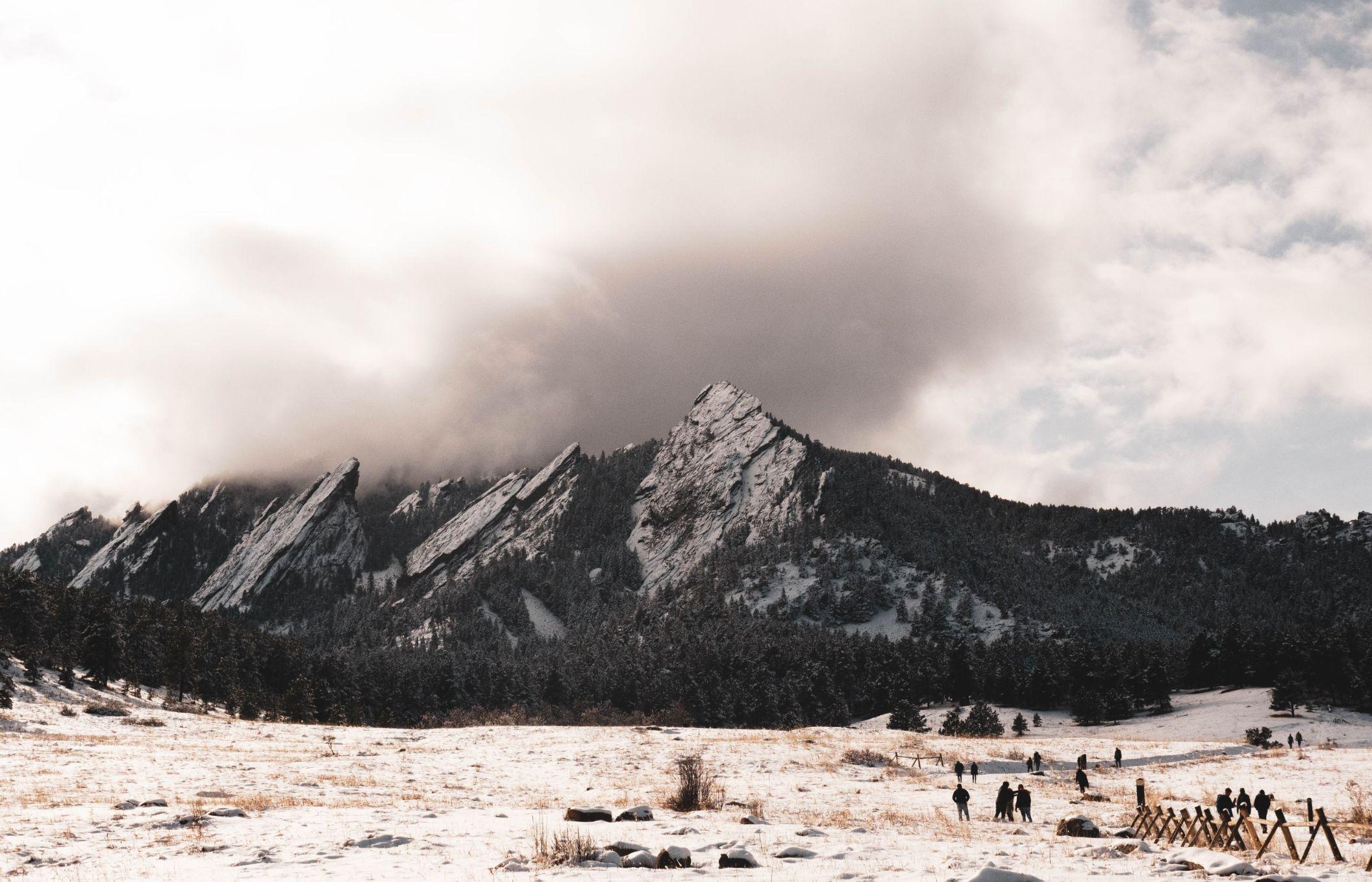 flatiron mountains in Boulder, Colorado