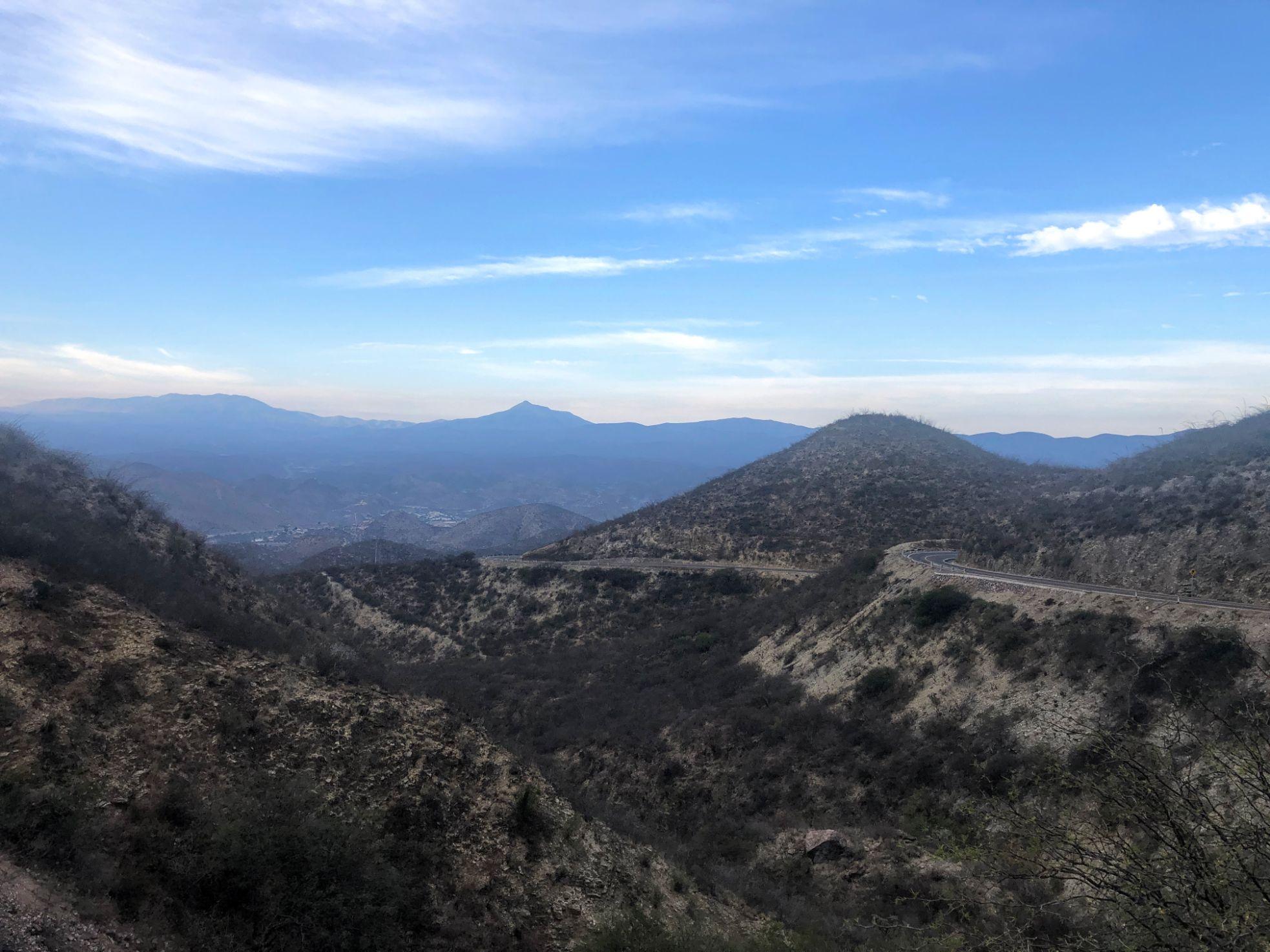 driving into the Sierra Gorda Biosphere Reserve