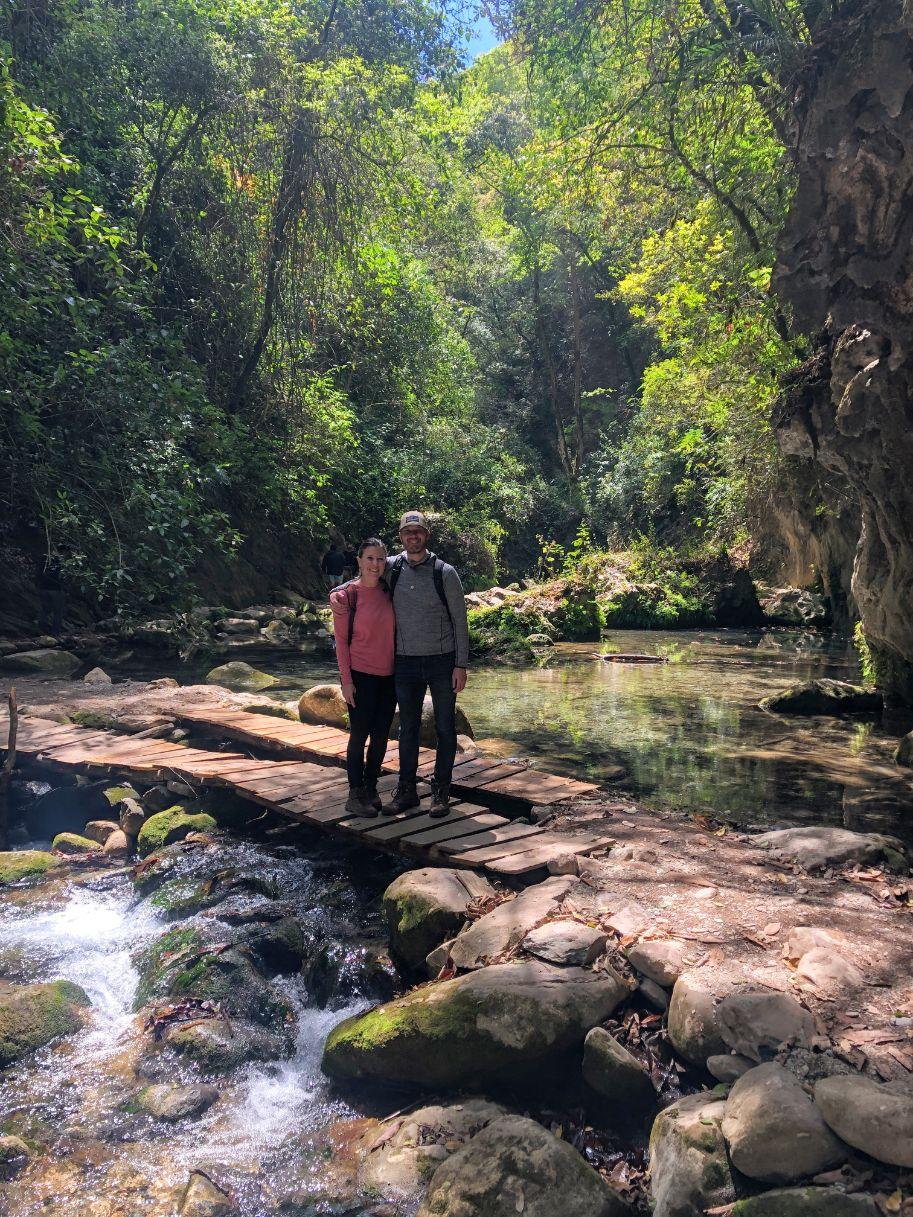 hiking to Puente de Dios with Dan!