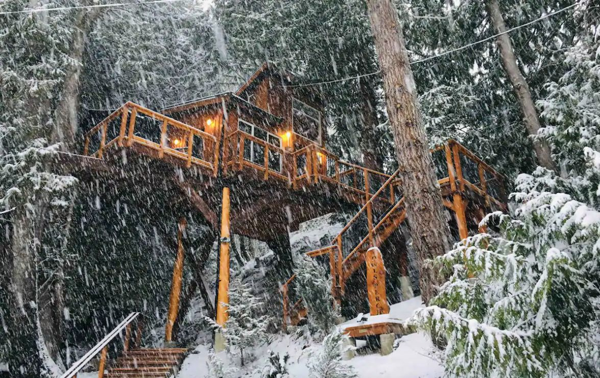 Owl's Perch treehouse in BC, Canada