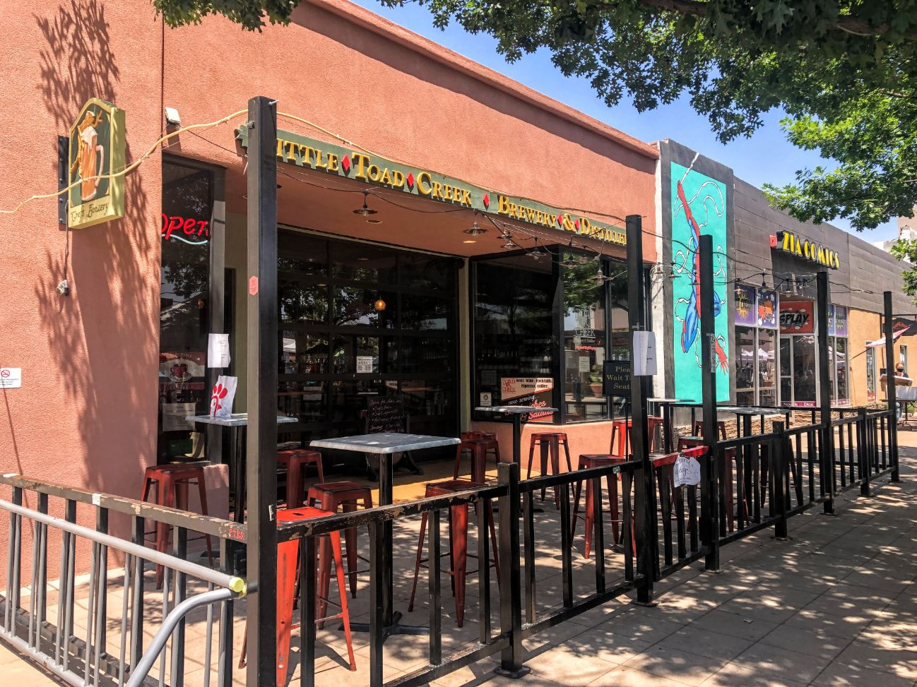 Little Toad Creek Brewery and Distiller in downtown Las Cruces
